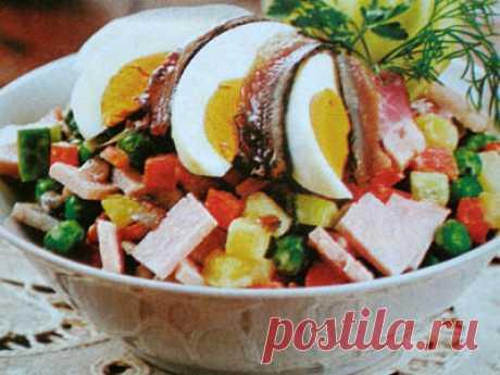 Отзывы посетителей о рецепте: Салат из кильки с ветчиной