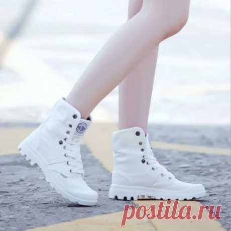 Женская парусиновая обувь Женская повседневная обувь из коллекции 2017 года дышащая обувь на плоской подошве белые туфли Zapatillas Mujer купить на AliExpress