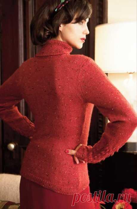Вязаный спицами пуловер c шишечками и косами из Vogue   Мамины Ручки. Вязание и другое   Яндекс Дзен
