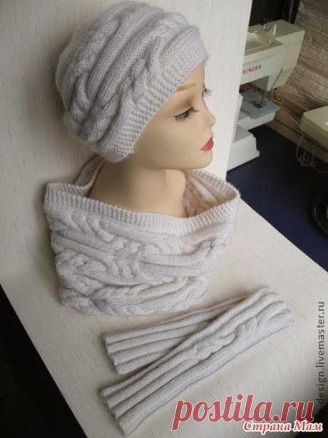 Всеми любимый вязаный комплект: шапочка,снуд и митенки. / Вязание как искусство!