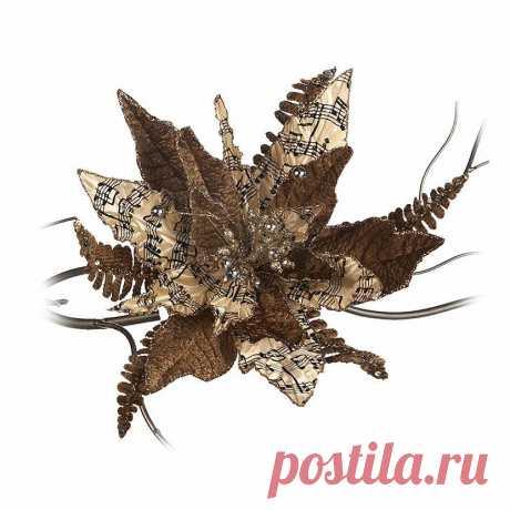 Poinsettia Golden Новогоднее украшение 4 шт. от Goodwill. Онлайн каталог. Galerie 46