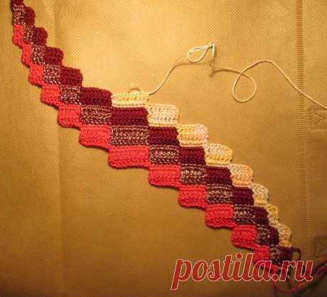 Вязание из остатков ниток nuo Иллара барджелло
