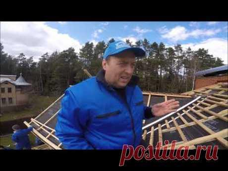Как сделать крышу из керамической черепицы. Часть 2.