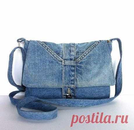 Идеи и схемы джинсовых сумок