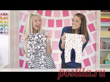How to Sew a Pair of Leggings, two ways---for any age!