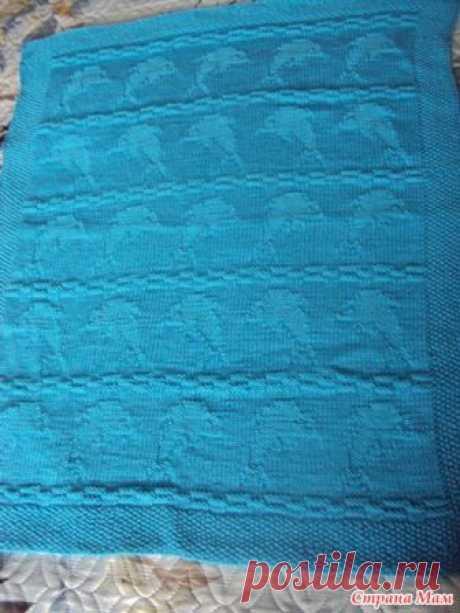 Теневой плед с дельфинами - Вязание для детей - Страна Мам