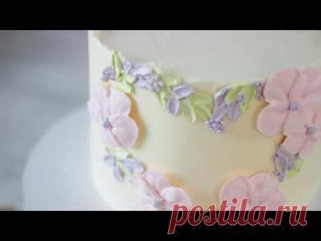 УКРАШЕНИЕ ТОРТА ПОКОРИТ ВАС СВОЕЙ ПРОСТОТОЙ. Нежное украшение торта за 10 минут. Украшение тортов