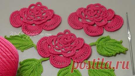 Вязание розы на бурдоне - Crochet Modnoe Vyazanie