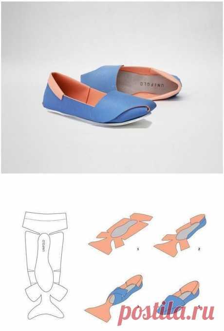 Простая выкройка мокасин Модная одежда и дизайн интерьера своими руками