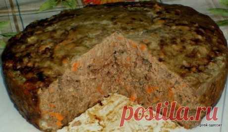 Пирог из печени Вкусно до безобразия!