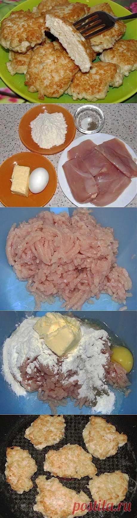 Быстрый ужин: Куриные оладьи.