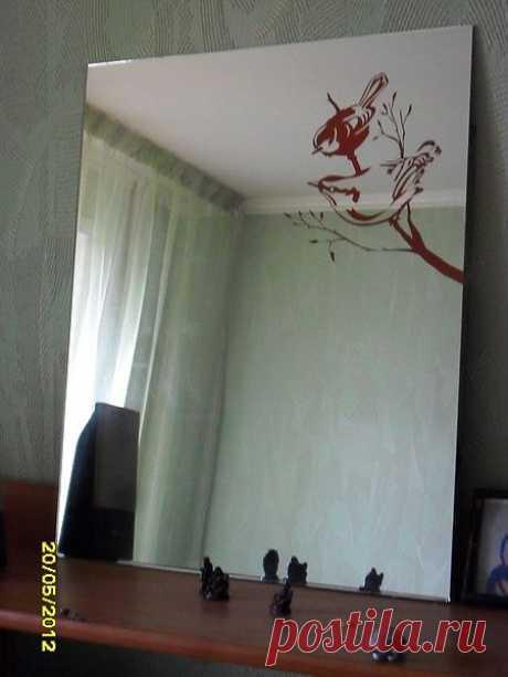 птички на зеркале
