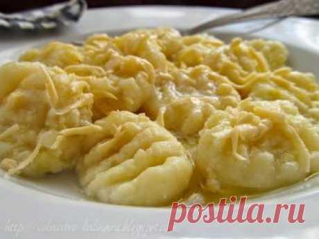 Ленивые вареники с картофелем и творогом