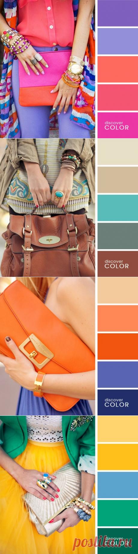La chuleta fenomenal por la combinación correcta de los colores en la ropa