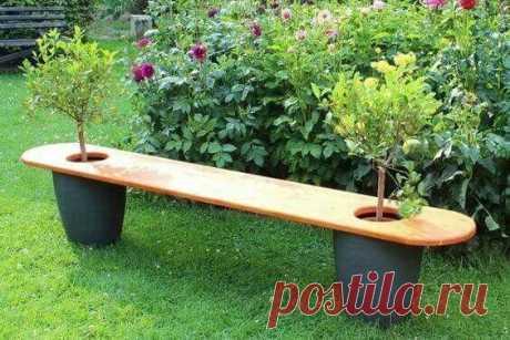 Незаменимый предмет мебели в саду - скамейка. Идеи для вдохновения!   Юлия Жданова   Яндекс Дзен