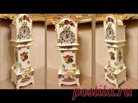 Amazing DIY/ Cardboard Project Table Clock /Hoe maak je van karton een klok