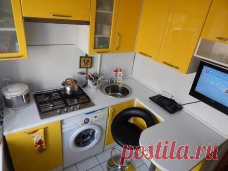 Дизайн маленькой кухни. Вам нравится?