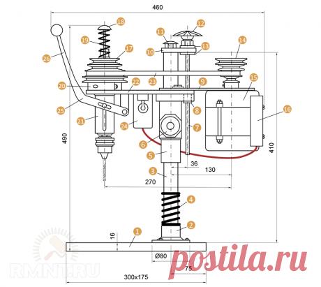 Настольный сверлильный станок своими руками: схемы и чертежи RMNT.RU