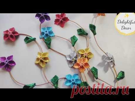 Красивые цветы и листья  из фоамирана