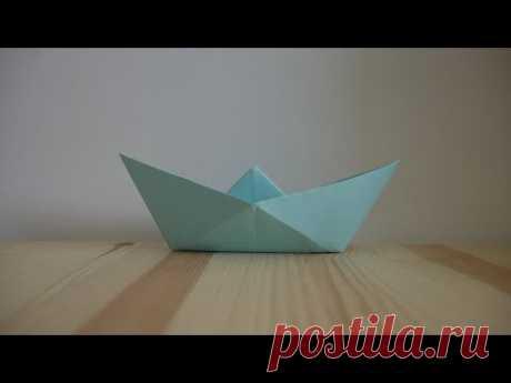 Оригами. Как сделать кораблик из бумаги (видео урок) - YouTube