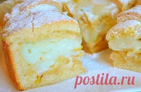 Вкусный яблочный пирог с нежным заварным кремом
