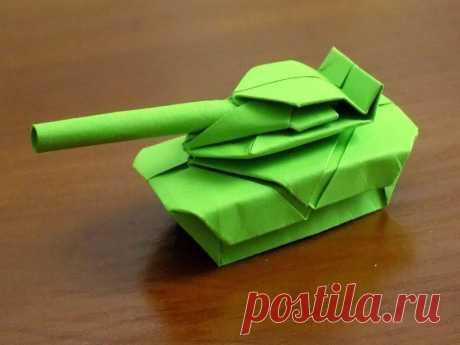 Как сделать танк из бумаги оригами пошагово с фото Прочитав нашу статью, вы узнаете, как сделать танк из бумаги. Обычный вариант бумажного танка оригами, способен сделать даже новичок. Для изготовления лист