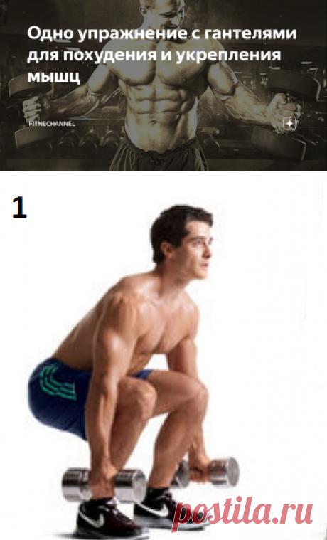 Одно упражнение с гантелями для похудения и укрепления мышц | fitnechannel | Яндекс Дзен