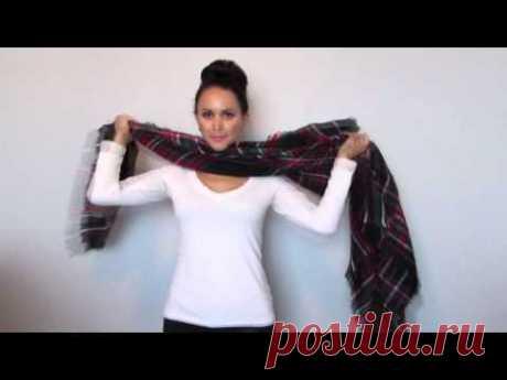 15 Easy Ways to Wear a Blanket Scarf