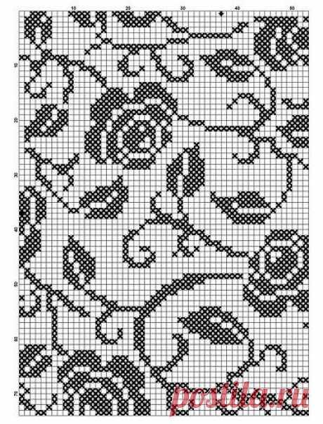 Монохромная вышивка, схемы для вышивания / Вышивка крестиком и бисером - схемы и хвастушки / Лунтики. Развиваем детей. Творчество и игрушки