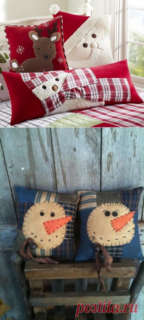 Новогодние подушки. (Идеи).