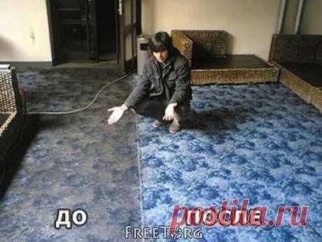 Как легко очистить ковер (Жми поделиться) Чтобы сократить траты на средства для мытья ковров, которые нам предлагают купить в магазинах, давайте сделаем средство для мытья ковров сами. Это средство будет в разы дешевле, без бесконечного списка химии с составе и самое главное - оно будет чистить.  Итак, нам понадобится:  - горячую воду, не кипяток (пол литра);  - 1 столовую ложку пищевой соды;  - 1/3 стакана уксуса; - 1 столовую ложку стирального порошка(или любого мыльного средства, что бы запах