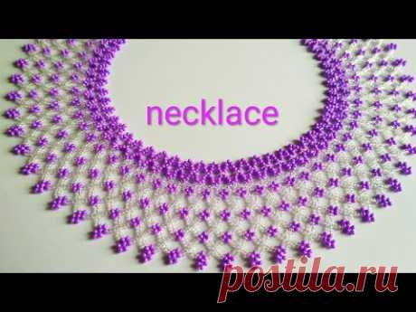 "Necklace ""Tenderness"". Колье из бисера. Мастер-класс"