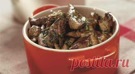 Liver on-stroganovski, the step-by-step recipe with a photo