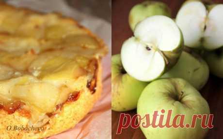 Самый лучший яблочный пирог осени — Янтарный торт