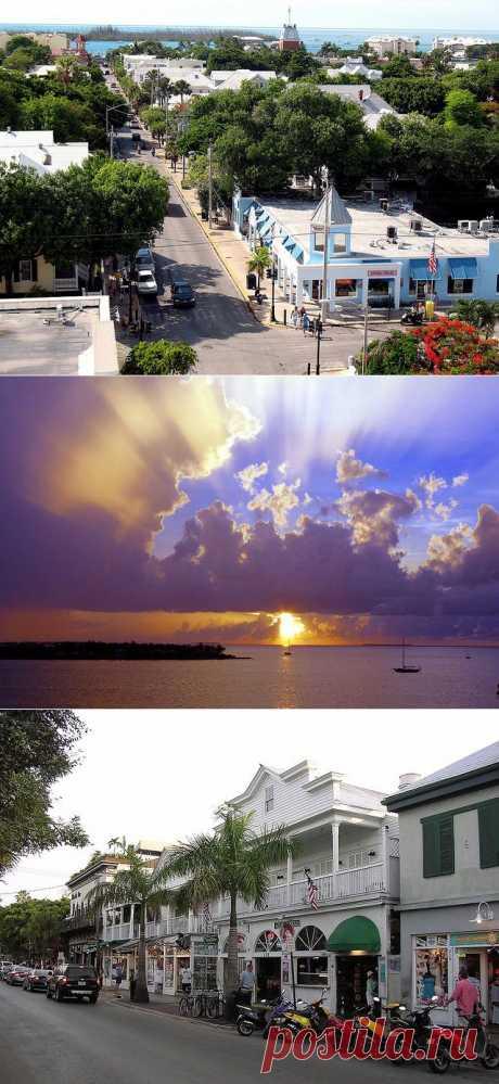 Город Ки-Уэст, Флорида, США, островной курортный городок