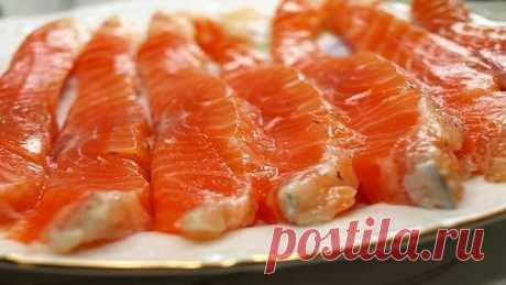 Соленая красная рыба в домашних условиях | Самые вкусные кулинарные рецепты