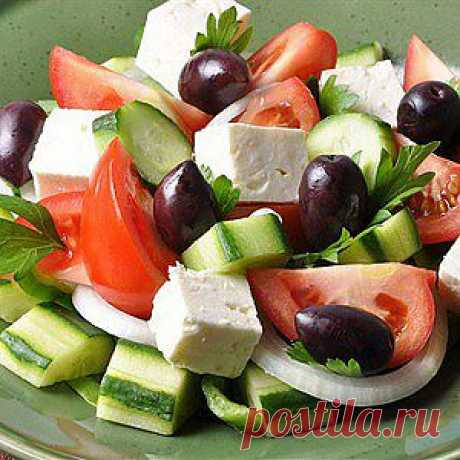 Классический греческий салат (Horiatiki) рецепт – салаты