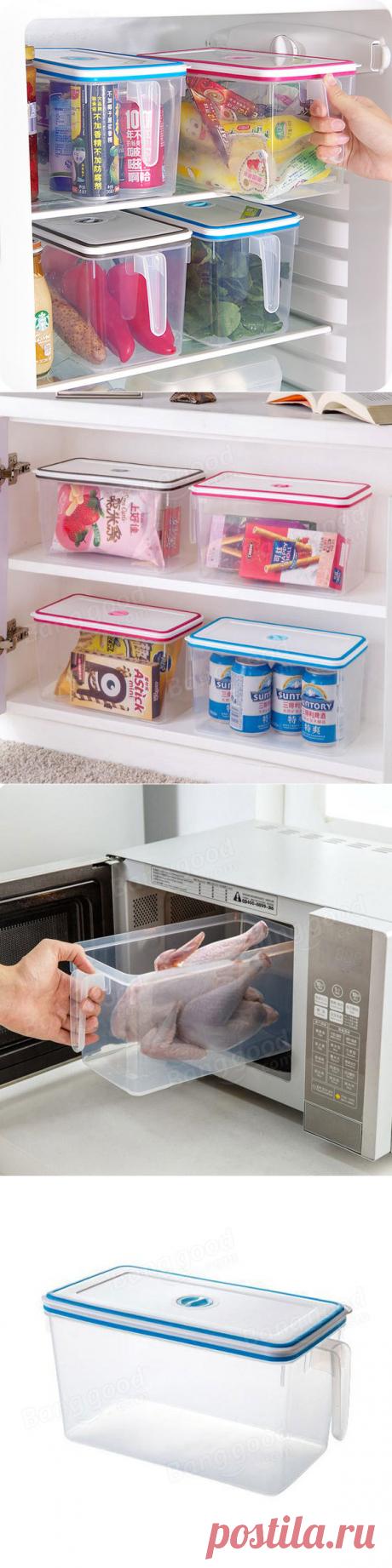 Кухонный холодильник Контейнер для пищевых продуктов Коробка Хранение холодильника с холодильником хранения Коробка с ручкой и таблицей  на Banggood sold out