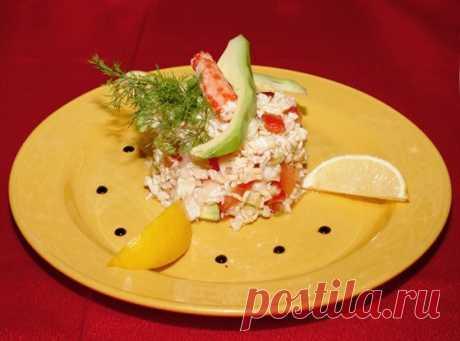 Летний салат из крабовых палочек рецепт – салаты. «Еда»