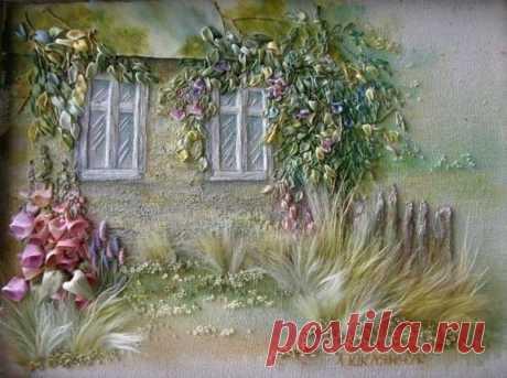 Живые картины из лент
