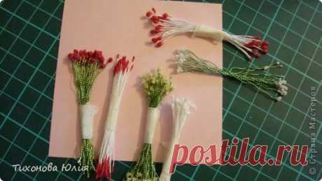 Как я делаю тычинки для цветов   Страна Мастеров