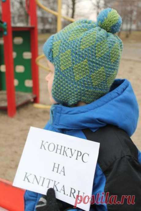Вязаная спицами шапочка для мальчика, Вязание для детей