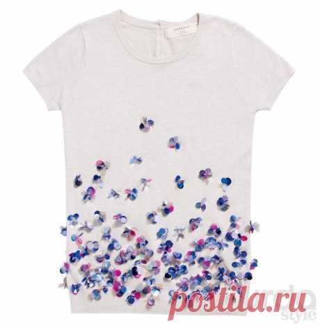 Декорируем платья блестящими цветами