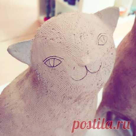 Мандроги. Начинать всегда лучше с беспроигрышного)) #керамикачариной #котики #керамика #мандроги