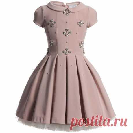 (2) Monnalisa Dusky Pink Diamante Couture Dress at Childrensalon.com | Clothes for Lil girls