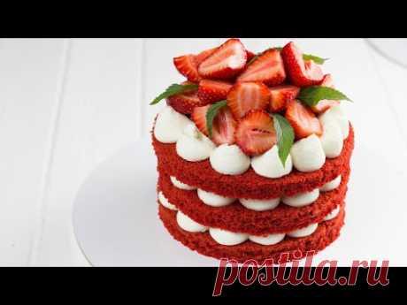 """ТОРТ """"КРАСНЫЙ ЗАМОК"""". Простой рецепт домашнего торта. Как собрать и украсить торт без навыков."""