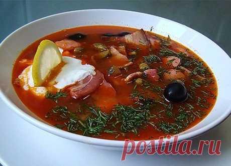 Как приготовить суп-солянку.
