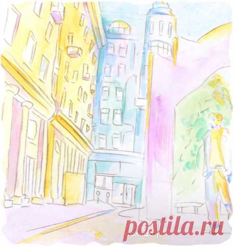 Москва | Акварель | Персональная именная сказка | Лес Солнца | Lessolnca.ru