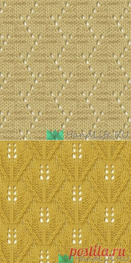 Подборка схема ажурных узоров спицами / Вязание спицами