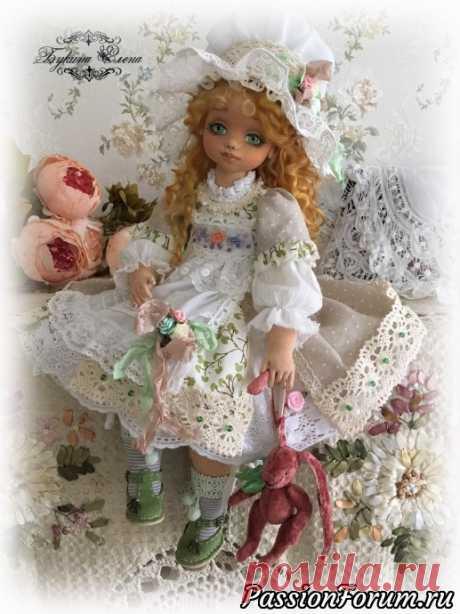 Лея, коллекционная текстильная кукла. - запись пользователя Елена (Елена) в сообществе Рукодельный магазинчик в категории Куплю-продам